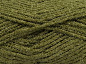 Contenido de fibra 85% Acrílico, 5% Mohair, 10% Lana, Khaki, Brand Ice Yarns, Yarn Thickness 5 Bulky Chunky, Craft, Rug, fnt2-67104