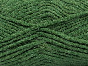 Contenido de fibra 85% Acrílico, 5% Mohair, 10% Lana, Brand Ice Yarns, Dark Green, Yarn Thickness 5 Bulky Chunky, Craft, Rug, fnt2-67105