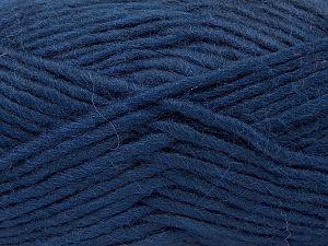 Contenido de fibra 85% Acrílico, 5% Mohair, 10% Lana, Navy, Brand Ice Yarns, Yarn Thickness 5 Bulky Chunky, Craft, Rug, fnt2-67106