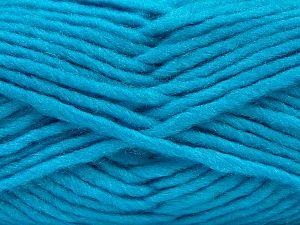 Contenido de fibra 85% Acrílico, 5% Mohair, 10% Lana, Turquoise, Brand Ice Yarns, Yarn Thickness 5 Bulky Chunky, Craft, Rug, fnt2-67111