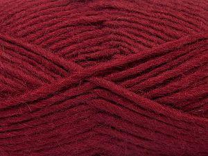 Contenido de fibra 85% Acrílico, 5% Mohair, 10% Lana, Brand Ice Yarns, Burgundy, Yarn Thickness 5 Bulky Chunky, Craft, Rug, fnt2-67113