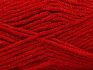 Contenido de fibra 85% Acrílico, 5% Mohair, 10% Lana, Red, Brand Ice Yarns, Yarn Thickness 5 Bulky Chunky, Craft, Rug, fnt2-67114