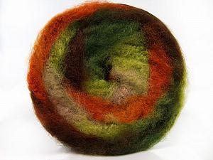 Fiber Content 95% Premium Acrylic, 5% Mohair, Orange, Brand Ice Yarns, Green Shades, Camel, Yarn Thickness 5 Bulky Chunky, Craft, Rug, fnt2-67126