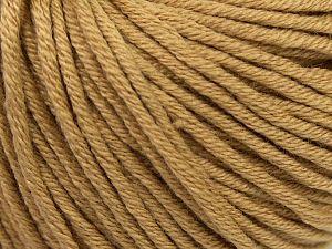 Fiber Content 50% Cotton, 50% Acrylic, Light Brown, Brand Ice Yarns, Yarn Thickness 3 Light DK, Light, Worsted, fnt2-67143