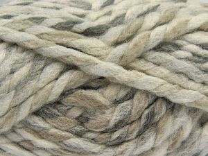 Contenido de fibra 75% Acrílico, 25% Lana, Brand Ice Yarns, Grey Shades, Cream, Camel, Yarn Thickness 6 SuperBulky Bulky, Roving, fnt2-67146