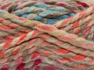Contenido de fibra 75% Acrílico, 25% Lana, Turquoise, Brand Ice Yarns, Green, Fuchsia, Cream, Brown, Yarn Thickness 6 SuperBulky Bulky, Roving, fnt2-67149