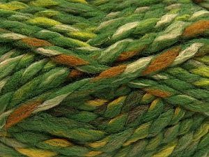 Contenido de fibra 75% Acrílico, 25% Lana, Orange, Brand Ice Yarns, Green Shades, Gold, Cream, Yarn Thickness 6 SuperBulky Bulky, Roving, fnt2-67153