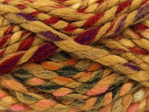 Contenido de fibra 75% Acrílico, 25% Lana, Red, Pink, Brand Ice Yarns, Dark Green, Cream, Caramel, Yarn Thickness 6 SuperBulky Bulky, Roving, fnt2-67154
