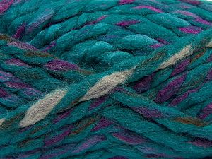 Contenido de fibra 75% Acrílico, 25% Lana, Turquoise Shades, Lilac, Brand Ice Yarns, Camel, Brown, Yarn Thickness 6 SuperBulky Bulky, Roving, fnt2-67157