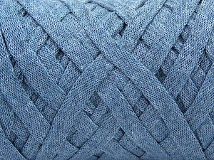 Fiber Content 100% Recycled Cotton, Jeans Blue, Brand Ice Yarns, Yarn Thickness 6 SuperBulky Bulky, Roving, fnt2-67285