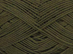 Fiber Content 67% Cotton, 33% Polyamide, Brand Ice Yarns, Dark Khaki, Yarn Thickness 2 Fine Sport, Baby, fnt2-67363