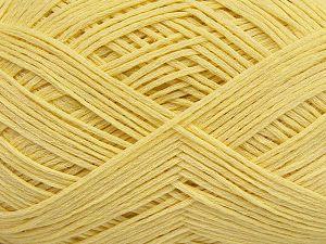 Fiber Content 67% Cotton, 33% Polyamide, Light Yellow, Brand Ice Yarns, Yarn Thickness 2 Fine Sport, Baby, fnt2-67378