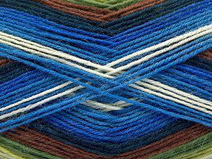 Fiber Content 75% Superwash Wool, 25% Polyamide, Brand Ice Yarns, Green Shades, Cream, Blue Shades, Yarn Thickness 1 SuperFine Sock, Fingering, Baby, fnt2-67406