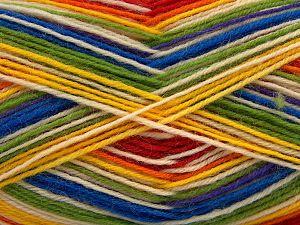Fiber Content 75% Superwash Wool, 25% Polyamide, Rainbow, Brand Ice Yarns, Yarn Thickness 1 SuperFine Sock, Fingering, Baby, fnt2-67420