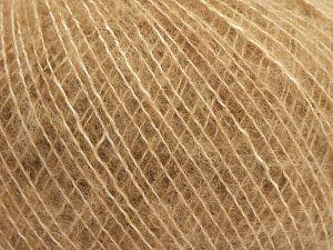 Fiber Content 66% Extrafine Merino Wool, 18% Polyamide, 16% Cotton, Light Brown, Brand Ice Yarns, Yarn Thickness 1 SuperFine Sock, Fingering, Baby, fnt2-67425