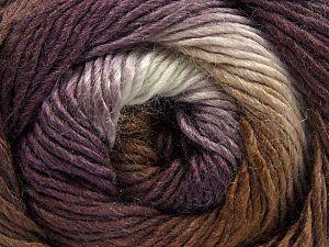 Fiber Content 50% Wool, 50% Acrylic, White, Purple, Brand Ice Yarns, Brown, fnt2-67460