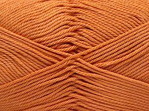 Fiber Content 100% Mercerised Giza Cotton, Light Orange, Brand Ice Yarns, fnt2-67549