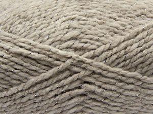 Fiber Content 67% Acrylic, 30% Wool, 3% Metallic Lurex, Light Grey, Brand Ice Yarns, fnt2-67617