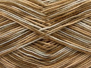 Cold Rinse. Short spin. Do not wring. Cool iron under dry cloth. Tumble dry. Dry cleanable. Do not bleach. Fiber Content 100% Acrylic, White, Brand Ice Yarns, Brown Shades, fnt2-67639