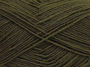 Fiber Content 75% Superwash Wool, 25% Polyamide, Khaki, Brand Ice Yarns, fnt2-67778