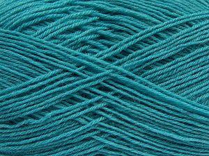 Fiber Content 75% Superwash Wool, 25% Polyamide, Turquoise, Brand Ice Yarns, fnt2-67782