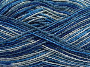 Fiber Content 75% Superwash Wool, 25% Polyamide, Brand Ice Yarns, Grey, Blue Shades, fnt2-67784