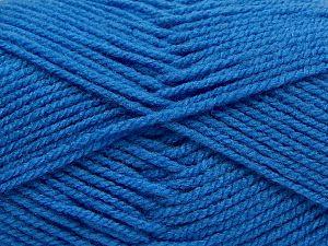 Worsted Fiber Content 100% Acrylic, Brand Ice Yarns, Blue, fnt2-67799