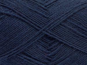 Fiber Content 75% Superwash Wool, 25% Polyamide, Brand Ice Yarns, Dark Navy, fnt2-67803