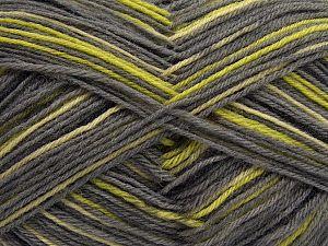 Fiber Content 75% Superwash Wool, 25% Polyamide, Brand Ice Yarns, Grey, Green Shades, Black, fnt2-67808