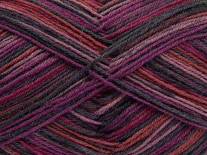 Fiber Content 75% Superwash Wool, 25% Polyamide, Purple Shades, Brand Ice Yarns, Fuchsia, fnt2-67809
