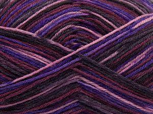 Fiber Content 75% Superwash Wool, 25% Polyamide, Purple Shades, Brand Ice Yarns, fnt2-67810