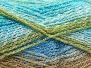Fiber Content 100% Acrylic, White, Turquoise, Brand Ice Yarns, Green, Camel, fnt2-67934