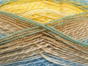 Fiber Content 100% Acrylic, Yellow, White, Brand Ice Yarns, Green, Camel, Blue, fnt2-67936
