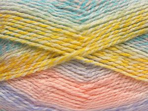 Fiber Content 100% Acrylic, Yellow, White, Turquoise, Salmon, Pink, Lilac, Brand Ice Yarns, fnt2-67938