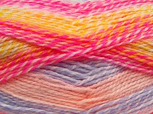 Fiber Content 100% Acrylic, Yellow, White, Pink Shades, Lilac, Brand Ice Yarns, fnt2-67939