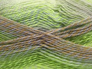 Fiber Content 100% Acrylic, White, Lilac, Brand Ice Yarns, Green Shades, Camel, fnt2-67941