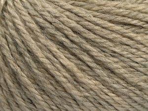 Fiber Content 8% Viscose, 54% Acrylic, 20% Wool, 18% Alpaca, Brand Ice Yarns, Beige Melange, fnt2-67969