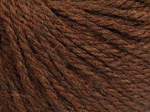 Fiber Content 8% Viscose, 54% Acrylic, 20% Wool, 18% Alpaca, Brand Ice Yarns, Dark Brown, fnt2-67971