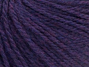 Fiber Content 8% Viscose, 54% Acrylic, 20% Wool, 18% Alpaca, Purple Melange, Brand Ice Yarns, fnt2-67979