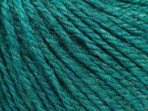 Fiber Content 8% Viscose, 54% Acrylic, 20% Wool, 18% Alpaca, Brand Ice Yarns, Emerald Green, fnt2-67985