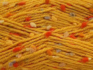 Fiber Content 68% Premium Acrylic, 19% Polyamide, 13% Polyester, Yellow Shades, Orange, Brand Ice Yarns, Camel, fnt2-68018