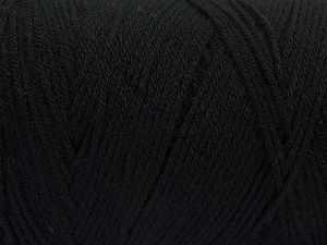 Items made with this yarn are machine washable & dryable. Fiber Content 100% Dralon Acrylic, Brand Ice Yarns, Black, fnt2-68083