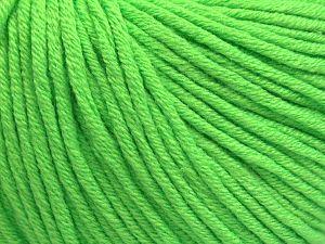 Fiber Content 50% Acrylic, 50% Cotton, Neon Green, Brand Ice Yarns, fnt2-68195