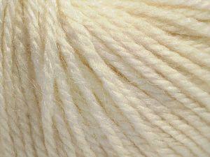 Fiber Content 8% Viscose, 54% Acrylic, 20% Wool, 18% Alpaca, Light Cream, Brand Ice Yarns, Yarn Thickness 3 Light DK, Light, Worsted, fnt2-68242