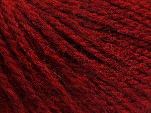Fiber Content 8% Viscose, 54% Acrylic, 20% Wool, 18% Alpaca, Ruby Red, Brand Ice Yarns, Yarn Thickness 3 Light DK, Light, Worsted, fnt2-68243