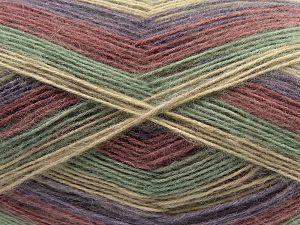 Fiber Content 50% Acrylic, 32% Wool, 18% Angora, Purple, Orchid, Brand Ice Yarns, Green, Beige, fnt2-68343