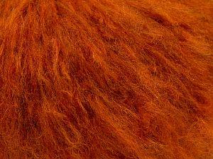 Fiber Content 45% Acrylic, 25% Wool, 20% Mohair, 10% Polyamide, Brand Ice Yarns, Dark Orange, fnt2-68380