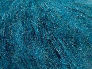Fiber Content 45% Acrylic, 25% Wool, 20% Mohair, 10% Polyamide, Turquoise, Brand Ice Yarns, fnt2-68384