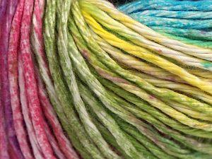 İçerik 100% Pamuk, Yellow, Turquoise, Purple, Brand Ice Yarns, Green Shades, fnt2-68414