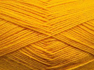 Contenido de fibra 60% Lana Merino, 40% Acrílico, Yellow, Brand Ice Yarns, fnt2-68437